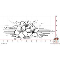 TAMPON FRISE GRUNGE (fleur) par Lily Fairy