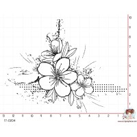 TAMPON COIN GRUNGE (fleur) par Lily Fairy
