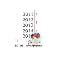 TAMPON ANNEE 2011 2012 2013 2014 2015 par Lily fairy