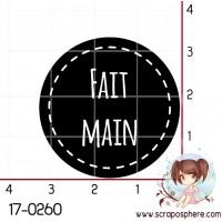 TAMPON CERCLE (noir) FAIT MAIN par Lily Fairy