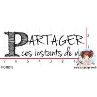 TAMPON PARTAGER CES INSTANTS DE VIE par Manou