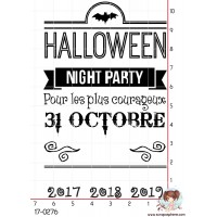 TAMPON INVITATION HALLOWEEN plus ANNEE par Lily Fairy