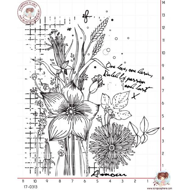 TAMPON FOND FLEUR EPI DE BLE par Lily Fairy