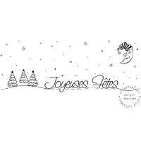 TAMPON PAYSAGE JOYEUSES FETES par Lily Fairy