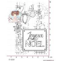 TAMPON CARTE JOYEUX NOEL par Lily Fairy