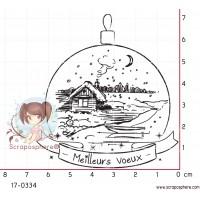 TAMPON BOULE MEILLEURS VOEUX par Lily Fairy