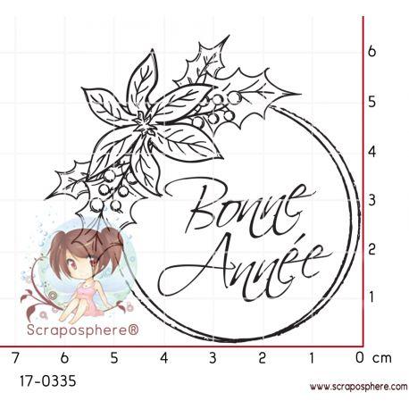 TAMPON BONNE ANNEE FLEURI par Lily Fairy
