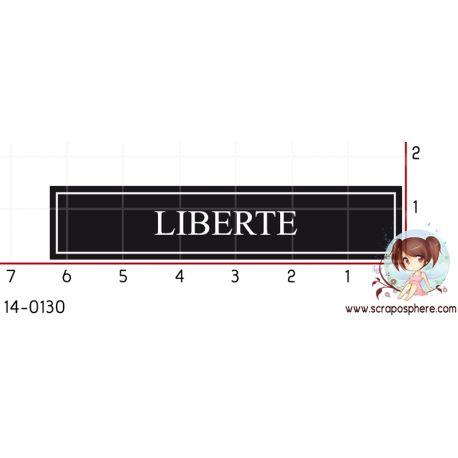 TAMPON ETIQUETTE LIBERTE (noir) par Laetitia67