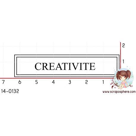 TAMPON ETIQUETTE CREATIVITE (blanc) par Laetitia67