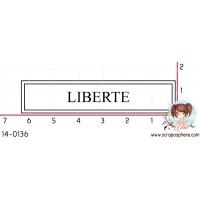 TAMPON ETIQUETTE LIBERTE (blanc) par Laetitia67