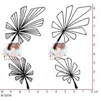 4 TAMPONS FEUILLES par Lily Fairy