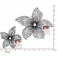 2 FLEURS STRIEES par Lily Fairy