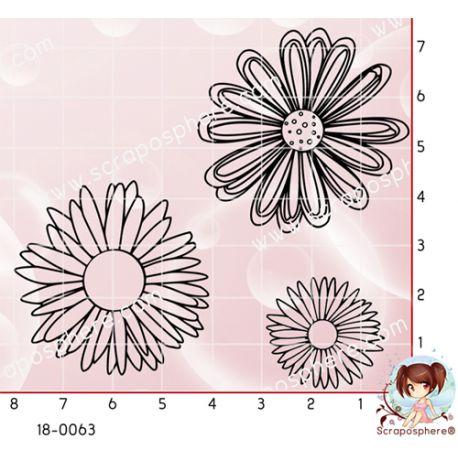3 TAMPONS FLEURS par Lily Fairy