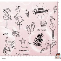 18 TAMPONS FLAMANTS ROSES EN VACANCES par Lily Fairy
