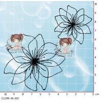 2 TAMPONS TRANSPARENTS FLEURS par Lily Fairy