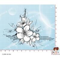TAMPON COIN FLEUR GRUNGE par Lily Fairy