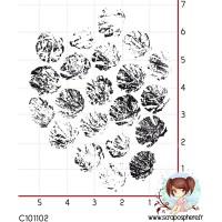 TAMPON FOND GROSSES BULLES par Lily Fairy
