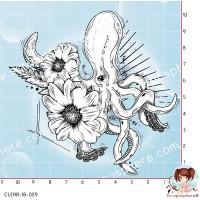 TAMPON TRANSPARENT PIEUVRE par Lily Fairy