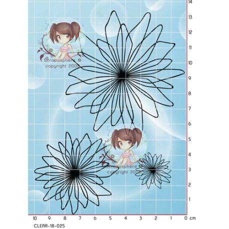 3 TAMPONS TRANSPARENTS FLEURS par Lily Fairy