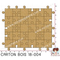 CARTON BOIS SCRAPOSPHERE - 20 pieces GRAND PUZZLE par Lily Fairy