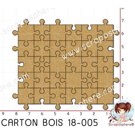 CARTON BOIS SCRAPOSPHERE - 20 pieces PETIT PUZZLE par Lily Fairy