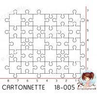 CARTONNETTE SCRAPOSPHERE - environ 20 pieces PETIT PUZZLE par Lily Fairy