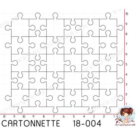 CARTONNETTE SCRAPOSPHERE - environ 20 pieces GRAND PUZZLE par Lily Fairy