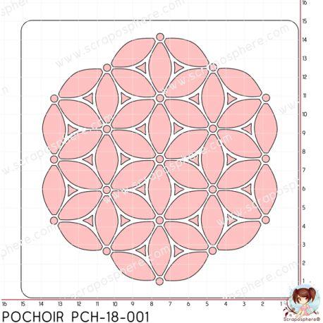 POCHOIR SCRAPOSPHERE - FLEUR par Lily Fairy