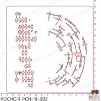 POCHOIR SCRAPOSPHERE - FONDS par Lily Fairy