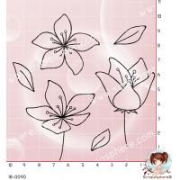 6 TAMPONS FLEURS ET FEUILLES par Lily Fairy