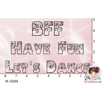 3 TAMPONS BFF HAVE FUN LETS DANCE par Lily Fairy
