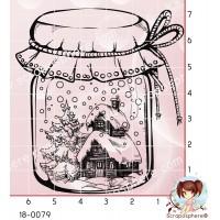 TAMPON BOCAL PAYSAGE DE NOEL par Lily Fairy