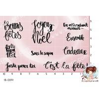 9 TAMPONS MOTS DE NOEL Par Cha