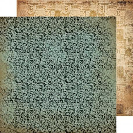 1 FEUILLE CARDSTOCK 30X30 PRAIRIE LANE - KAISERCRAFT