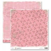 1 FEUILLE CARDSTOCK GRANMA'S ROSE GARDEN - MAGNOLIA