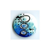 BADGE 3.8 cm - FOND BLEU par Tiphanie