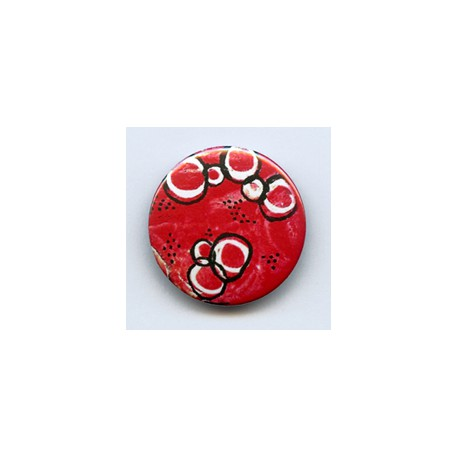 BADGE 3.8 cm - FOND ROUGE par Tiphanie