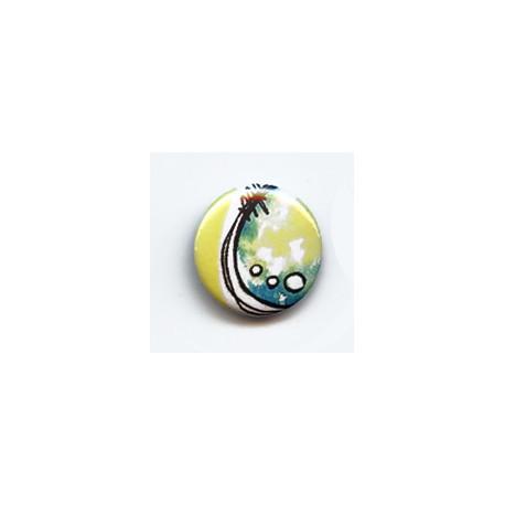 BADGE 2.5 cm - FOND JAUNE par Tiphanie