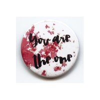 BADGE 3.8 cm - YOU ARE THE ONE rouge par Shannon