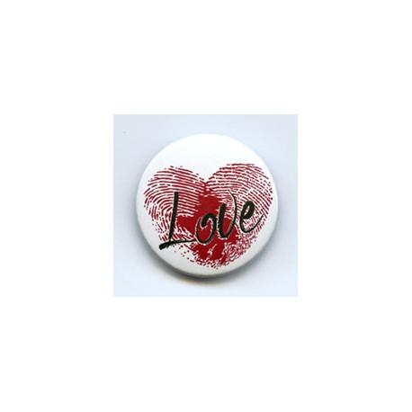 BADGE 3.8 cm - EMPREINTE COEUR LOVE par Shannon
