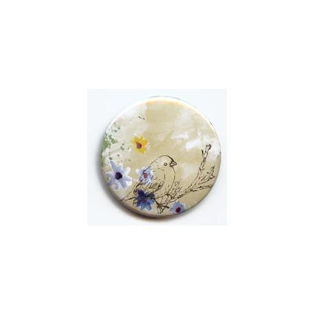 BADGE 3.8 cm - OISEAU SUR SA BRANCHE par Lily Fairy