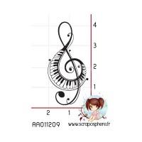 TAMPON PETITE CLE DE SOL PIANO MUSIQUE