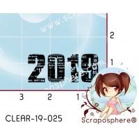 TAMPON TRANSPARENT 2019 (lettres) par Lily Fairy