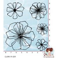 5 TAMPONS TRANSPARENTS FLEURS par Lily Fairy