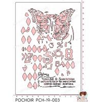 POCHOIR SCRAPOSPHERE - FOND PAPILLON GRUNGE par Lily Fairy