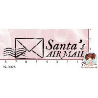 TAMPON SANTA AIR MAIL par Lily Fairy