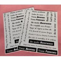 2 PLANCHES D ETIQUETTES A DECOUPER par Fabi Jorro