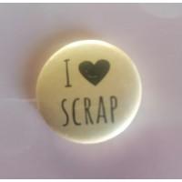 BADGE 2.5 cm - I LOVE SCRAP