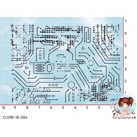 TAMPON FOND GRUNGE CIRCUIT par Lily Fairy