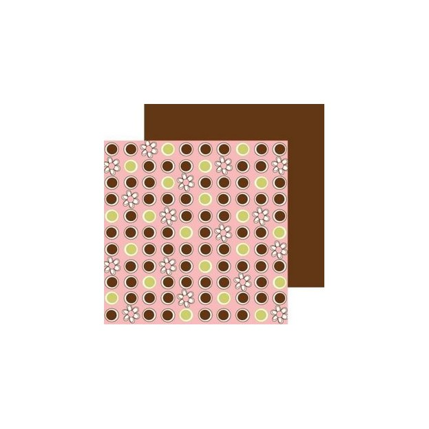 1 FEUILLE CARDSTOCK 30X30 COCO RINGS 3 BUGS IN A RUG